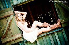 Senior Girl/Senior Girl Pose/ in the barn door pose idea.Senior 2014 @CharityGoodwinPhotography