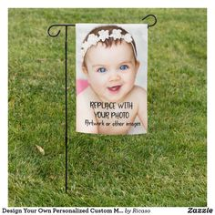 Shop Design Your Own Personalized Custom Made Garden Flag created by Ricaso. Personalized Products, Customized Gifts, Flag Signs, Garden Flags, Baby Disney, Design Your Own, Event Decor, Custom Made, Create Your Own