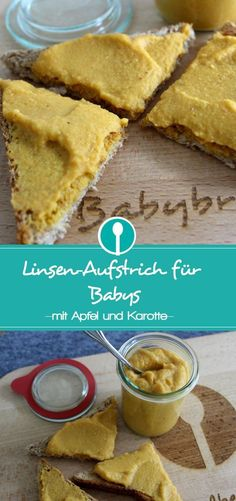 Brotaufstrich mit Apfel und Karotten für Babys und Kleinkinder. Vegan. Lecker. Gesund. Eine tolle Alternative zu Wurst und Käse.