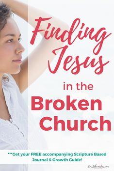 Finding Jesus in a broken church? It seems today more than ever there is much division in the church.Is there hope? Christian Women, Christian Living, Christian Faith, Spiritual Growth, Spiritual Practices, Spiritual Health, Spiritual Life, Finding Jesus, Identity In Christ