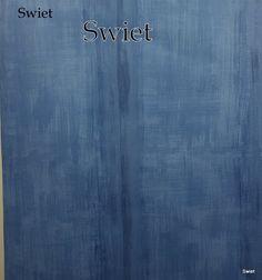 Jeans blauw behang   Swiet