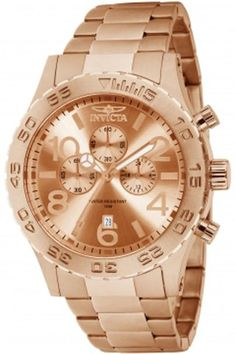 Men's rose gold Invicta sports watch