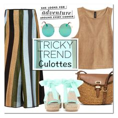 """""""Tricky Trend: Culottes"""" by schipillitilaura ❤ liked on Polyvore featuring Circus Hotel, MICHAEL Michael Kors, Oscar de la Renta and Kate Spade"""