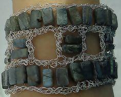 Manschette Armband Draht Schmuck häkeln Draht von LavishGemstone