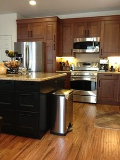 IKEA Kitchen Cabinets black base, white wall | Ikea Kitchen Design Ideas, Pictures, Remodel, and Decor - page 16