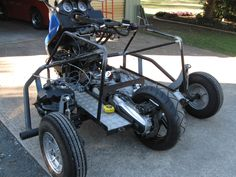 Being built up for a quadriplegic wheelchair-based Australian is this modified TMax. Description from advrider.com. I searched for this on bing.com/images