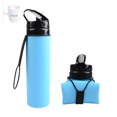 Silicone Folding Water Bottle Sport Bottle Cup for Cycling Camping Running