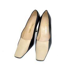 Chanel Luxury Leather Shoes Lucite PVC Heels Pumps / Authentic #CHANEL #PumpsClassics