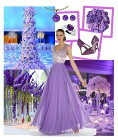 """""""Bridesmaid"""" by ester-ludwig ❤ liked on Polyvore featuring Caparros, Reception, Alyce Paris and Color My Life"""
