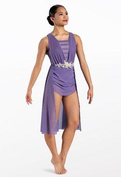 Weissman® Spandex Dress, Dance Leotards, Dance Costumes, Polyester Spandex, Bodice, Customer Number, Mesh, Recital, Raw Edge