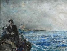 An Atlantic Drive by Jack Butler Yeats 1871 - 1957 - The Hunt Collection, Limerick Limerick City, Limerick Ireland, Kensington School, Devon Life, Moving To Ireland, Short Stories For Kids, Urban Life, Large Canvas, Museum Collection