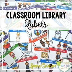 Organize your classroom library with these 232 colorful and engaging labels! Each classroom library book bin label is 5 x 3.5 inches. The classroom library book bin labels allow you to arrange your classroom  library system by author, favorite series, topics of interest, content area, genres, and a leveling system.