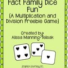 Looking for a quick and easy way to practice (or reinforce) those multiplication and division facts?  Simply roll two dice to create two multiplica...