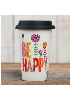 Natural Life Thermal Mug - Be Happy