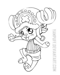 Tony Tony Chopper ::One Piece Lineart Commission: by YamPuff.deviantart.com on @DeviantArt