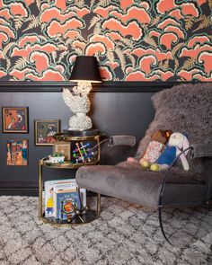 A stimulating, eclectic girl's nursery from House of Honey. Baby can have style!