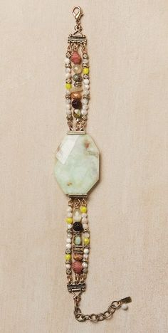 Peruvian Opal Bracelet: I like the colors and the findings/beads.