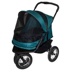 The pine green Pet Gear No-Zip Double Pet Stroller * Unbelievable dog item right here! : Dog strollers