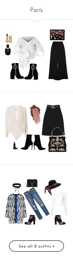 """""""París"""" by alguienvolosobremislouboutins ❤ liked on Polyvore featuring River Island, Off-White, Alexander McQueen, Steve Madden, ootd, polyvoreset, Michelle Mason, Gucci, Dolce&Gabbana and ALDO"""