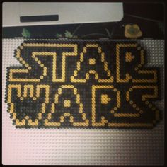 Star Wars logo perler beads by jennohjenn