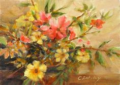 """Flower Binge"" - Original Fine Art for Sale - © Catherine Zakutney"