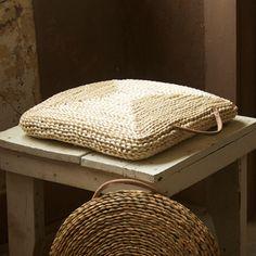 Seagrass Woven Cushion | dotandbo.com #DotandBoDream