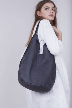 Excited to share the latest addition to my #etsy shop: Ash Grey Leather Shoulder Bag, Slouchy Handbag, Leather Totes, Unique Bags for Women, Ash Grey Handbag, Unique Stylish Purse - Charley Bag #bagsandpurses #slouchyhandbag #ashgreyhandbag #uniquestylishpurse #ashgreybag #leathershoulderbag