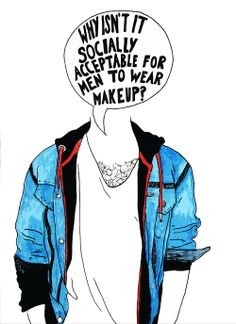 Why isn't it socially acceptable for men to wear makeup?  (such a good question. I really wish they would lol I love a guy that rock some androgyny. Besides, Makeup IS NOT gender-specific, it's simply makeup, get over it. pet peeve)  Sociology. Anthropology