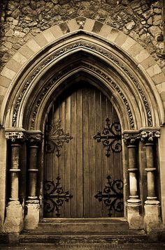 This is the door of Exeter Cathedral