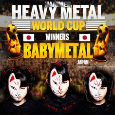 Babymetal won the W-Cup of Heavy Metal 22/Jul 2014
