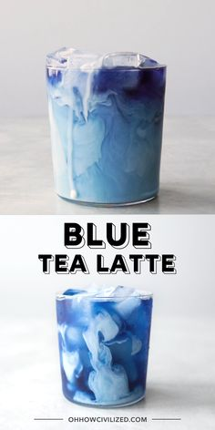 A pretty blue herbal tea latte made with butterfly pea flowers. Add a splash of milky goodness to get a gorgeous creamy swirl. See how easy it is to make! Gorgeous iced blue tea latte made with butterfly pea flowers. Fun Drinks, Alcoholic Drinks, Colorful Drinks, Cold Drinks, Yummy Drinks, Beverages, Salate Warm, Butterfly Pea Flower Tea, Alcohol Drink Recipes