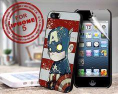 vintage captain america - design case for iphone 5 | shayutiaccessories - Accessories on ArtFire