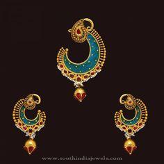 Gold Designer Antique Pendant Sets, Trendy Gold Pendant Sets, Indian Gold Designer Pendant Designs.