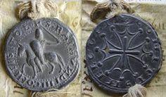 Avers et revers de la bulle du comte de Toulouse Raimond V pour le comté de Mauguio (1199). (photo ©Laurent Macé)