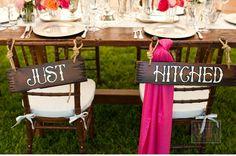 Chic Rustic Wedding - wedding signs réception mariag, wedding escort cards, hitch sign, chic rustic, rustic weddings, wedding signs