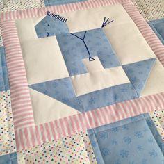 Купить ЛОШАДКА детский лоскутный плед - лоскутное одеяло, лоскутное шитье, лоскутное покрывало