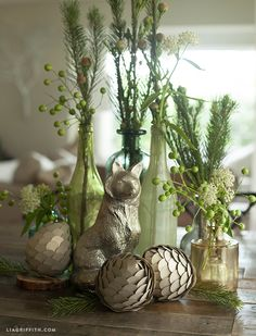 Woodland Paper Pine Cone Home Decor by Lia Griffith