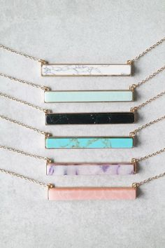 @Mer_Elise Stone Bar Necklace