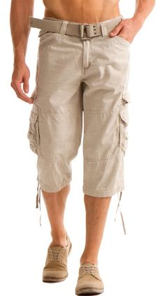 Mens Capri Cargo Pants