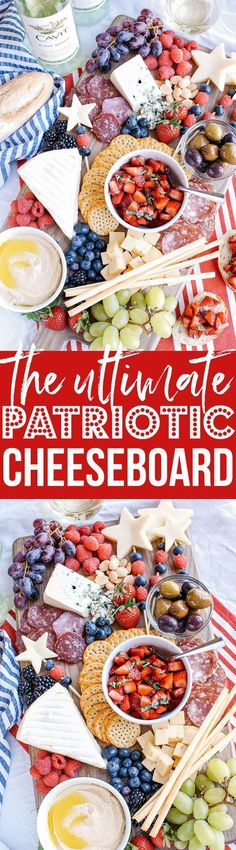 kick off the summer & July 4th with the Ultimate Patriotic Cheeseboard! Grab your favorite bottle of wine and share this festive appetizer with your friends and family this holiday!