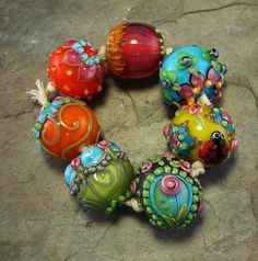 Love me some of Flamy Amy's Bollies - have a few sets already. I would collect them like marbles if I could!