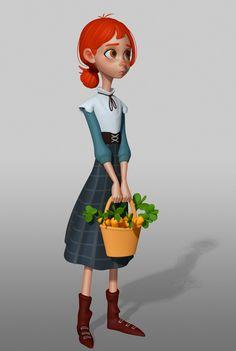 zbrush cartoon girl, Vitaliy Sergeevich on ArtStation at https://www.artstation.com/artwork/9d5Ky