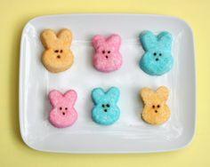 Make homemade marshmallow peeps for #Easter via @KitchAdventures