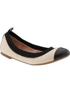 I'm not a big flat lover - they pinch my feet but most women love them. This one is classic and the elastic band will look good but also be more comfortable. Aida Ballet Flat