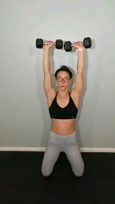 At home dumbbell upper body workout Intense upper body workout routine with weights. Tone flabby arms and build muscle in your arms with this intense at home dumbbell workout routine. Fitness Workouts, Gym Workout Videos, Fitness Workout For Women, Body Fitness, Physical Fitness, At Home Workouts, Planet Fitness, Fitness Gifts, Body Workouts