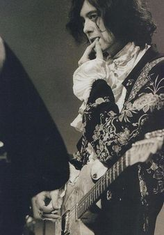 Jimmy Page in Baroque regalia.