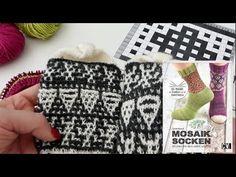 Mosaikstricken in Runden - YouTube Knitting Charts, Knitting Stitches, Fair Isles, Knit In The Round, Mosaic Patterns, Slip Stitch, Fingerless Gloves, Arm Warmers, Ravelry
