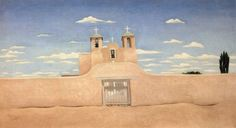 Georgia O'Keeffe Front of Ranchos Church painting for sale - Georgia O'Keeffe Front of Ranchos Church is handmade art reproduction; You can shop Georgia O'Keeffe Front of Ranchos Church painting on canvas or frame. Georgia O'keefe Art, Georgia O Keeffe Paintings, Alfred Stieglitz, Oil Painting Reproductions, Paintings For Sale, Art Paintings, Famous Artists, American Artists, New Mexico