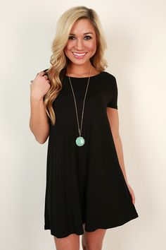 This t-shirt dress is simple and ideal for throwing on with sandals for the farmer's market or a coffee date!