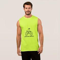 Weird Human Behavior Bicycler Sleeveless T-Shirt - diy cyo customize create your own personalize